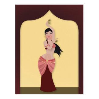 Belly Dancer Middle Eastern dancer Postcard