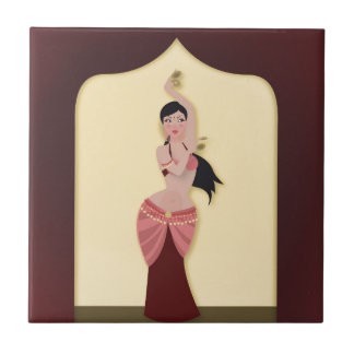 Belly Dancer Middle Eastern dancer Tile