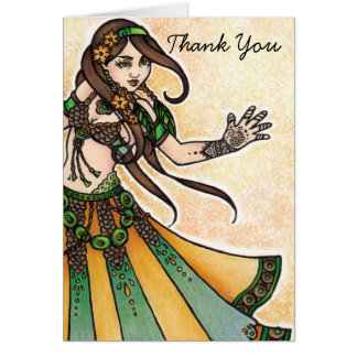 Belly Dancer Thank You Card