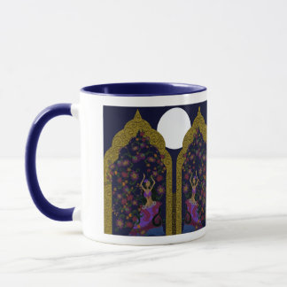 Belly Dancers In Flower Garden Mug. Mug