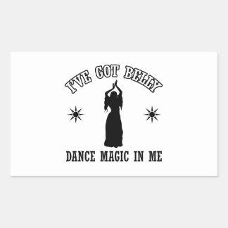 belly dancing design sticker