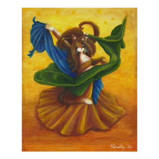Belly Dancing Gypsy Cat Posters