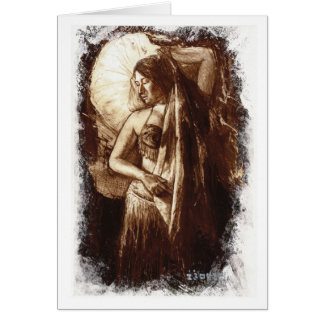 Belly Dancing Lady Card