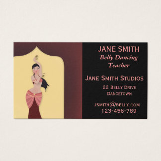 Belly Dancing teacher dance teacher dance studio Business Card