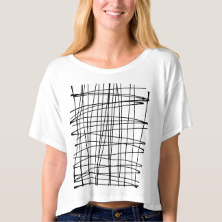 Belly-free T-shirt with print