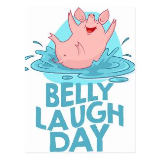 Belly Laugh Day - Appreciation Day Postcard