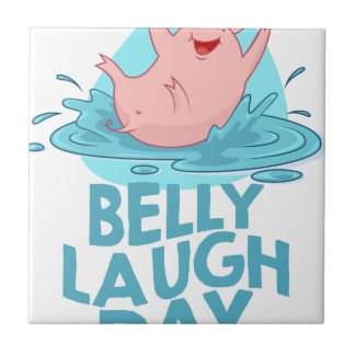 Belly Laugh Day - Appreciation Day Tile