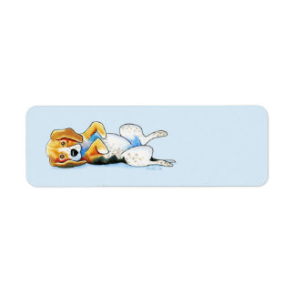 Belly Up Beagle Return Address Label