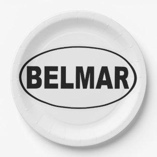Belmar New Jersey 9 Inch Paper Plate