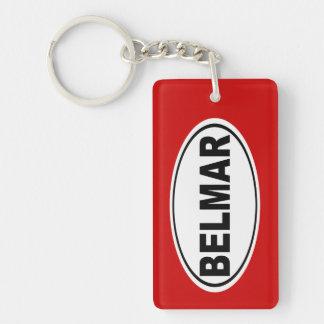 Belmar New Jersey Double-Sided Rectangular Acrylic Keychain