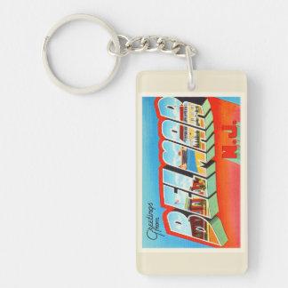 Belmar New Jersey NJ Old Vintage Travel Postcard- Double-Sided Rectangular Acrylic Keychain