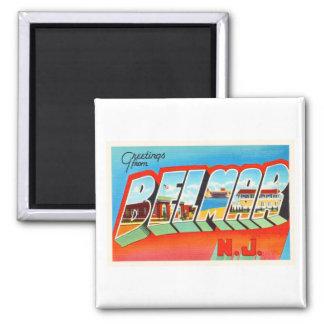 Belmar New Jersey NJ Old Vintage Travel Postcard- Square Magnet