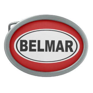 Belmar New Jersey Oval Belt Buckles