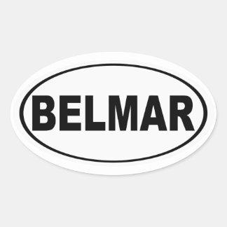 Belmar New Jersey Oval Sticker