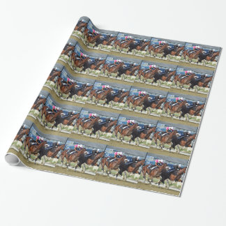 Belmont Park Workouts Wrapping Paper
