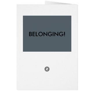 belonging card