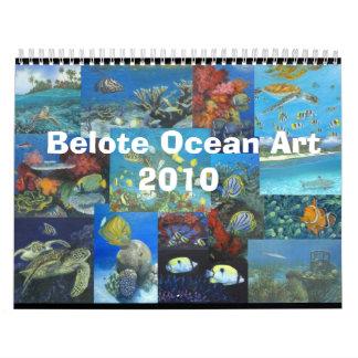 Belote Ocean Art Calendat Wall Calendars