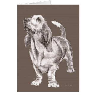 Beloved Basset Hound Dog card