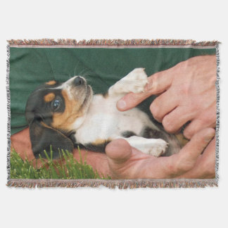 Beloved Beagle Puppy Throw Blanket