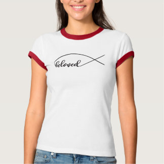 Beloved script, Jesus fish, custom design T-Shirt