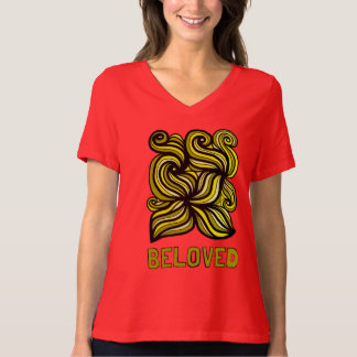 """""""Beloved"""" Women's Relaxed Fit V-Neck T-Shirt"""