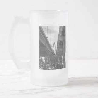 Below Arthur Ravenel Grayscale Frosted Glass Beer Mug