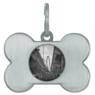 Below Arthur Ravenel Grayscale Pet ID Tag