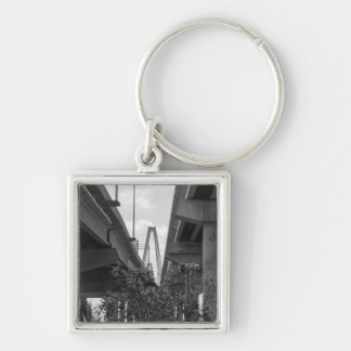 Below Arthur Ravenel Grayscale Silver-Colored Square Keychain