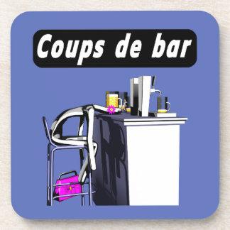 Below of glasses Blows of bar 2 woman Beverage Coasters