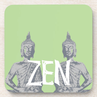 Below of glasses plastic, cork ZEN set of 6 Beverage Coaster