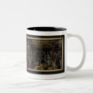 Below Saint Jude's Two-Tone Coffee Mug