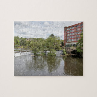 Belper East Mill and weir in Derbyshire photo Jigsaw Puzzle
