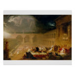 Belshazzar's Feast (oil on canvas) Poster