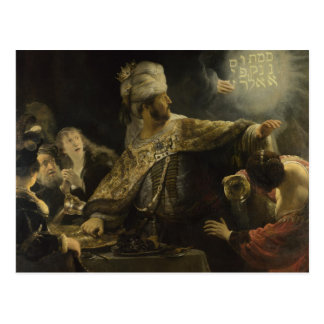 Belshazzar's Feast Post Card
