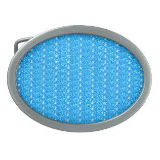 Belt Buckle Baby Blue Glitter