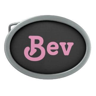 Belt Buckle Bev