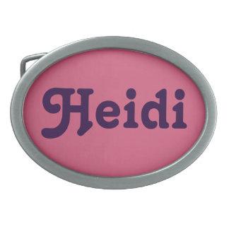 Belt Buckle Heidi