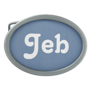 Belt Buckle Jeb