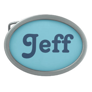 Belt Buckle Jeff
