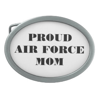 Belt Buckle Proud Air Force Mom