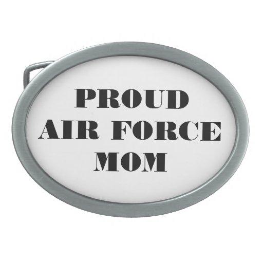Belt Buckle Proud Air Force Mom