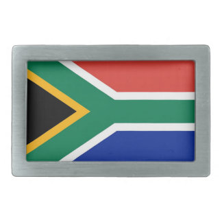 Belt Buckle with Flag of South Africa