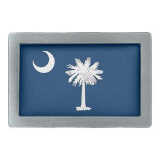 Belt Buckle with Flag of South Carolina State