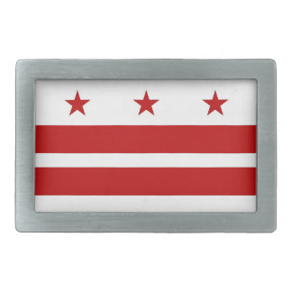 Belt Buckle with Flag of Washington DC
