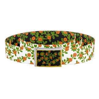 Belt Floral #1 in Black and White