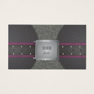 Belt purple and black business card