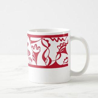 belt red classic white coffee mug