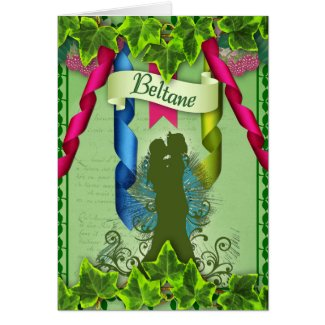 Beltane Pagan Greeting Card
