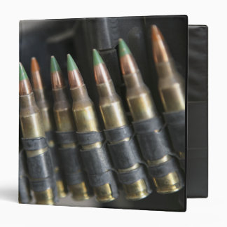 Belted bullets for an M-249 squad automatic wea Vinyl Binders
