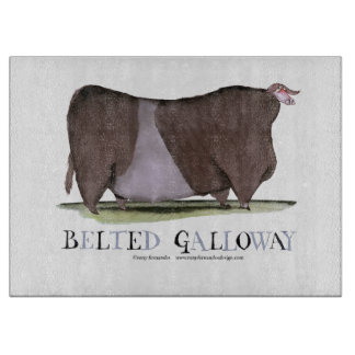 belted galloway cow, tony fernandes cutting board